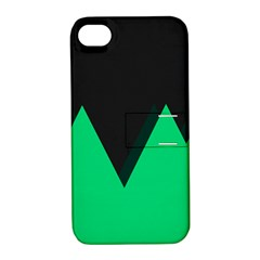 Soaring Mountains Nexus Black Green Apple Iphone 4/4s Hardshell Case With Stand by Alisyart