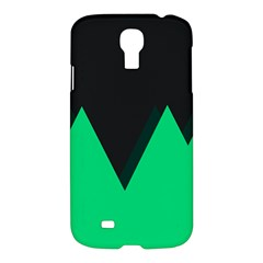 Soaring Mountains Nexus Black Green Samsung Galaxy S4 I9500/i9505 Hardshell Case by Alisyart