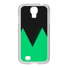 Soaring Mountains Nexus Black Green Samsung Galaxy S4 I9500/ I9505 Case (white) by Alisyart
