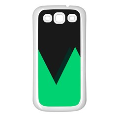 Soaring Mountains Nexus Black Green Samsung Galaxy S3 Back Case (white) by Alisyart