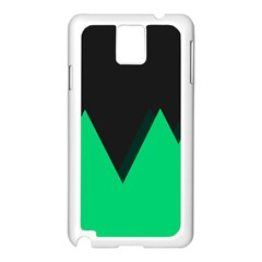 Soaring Mountains Nexus Black Green Samsung Galaxy Note 3 N9005 Case (white) by Alisyart
