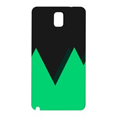 Soaring Mountains Nexus Black Green Samsung Galaxy Note 3 N9005 Hardshell Back Case by Alisyart