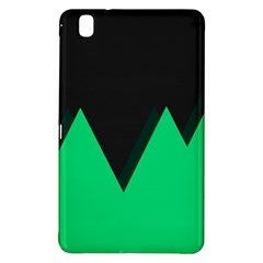 Soaring Mountains Nexus Black Green Samsung Galaxy Tab Pro 8 4 Hardshell Case by Alisyart