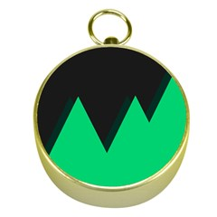Soaring Mountains Nexus Black Green Gold Compasses by Alisyart