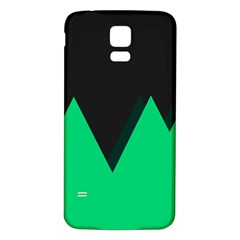 Soaring Mountains Nexus Black Green Samsung Galaxy S5 Back Case (white) by Alisyart