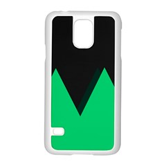 Soaring Mountains Nexus Black Green Samsung Galaxy S5 Case (white) by Alisyart