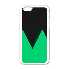 Soaring Mountains Nexus Black Green Apple Iphone 6/6s White Enamel Case by Alisyart