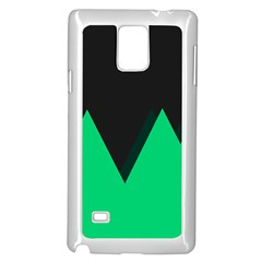 Soaring Mountains Nexus Black Green Samsung Galaxy Note 4 Case (white) by Alisyart