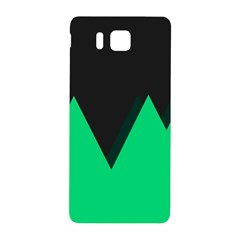 Soaring Mountains Nexus Black Green Samsung Galaxy Alpha Hardshell Back Case by Alisyart