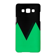 Soaring Mountains Nexus Black Green Samsung Galaxy A5 Hardshell Case  by Alisyart