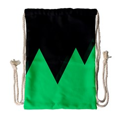 Soaring Mountains Nexus Black Green Drawstring Bag (large) by Alisyart