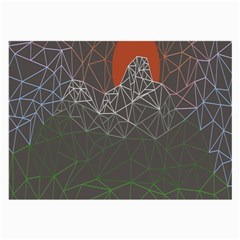Sun Line Lighs Nets Green Orange Geometric Mountains Large Glasses Cloth by Alisyart