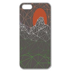Sun Line Lighs Nets Green Orange Geometric Mountains Apple Seamless Iphone 5 Case (clear)
