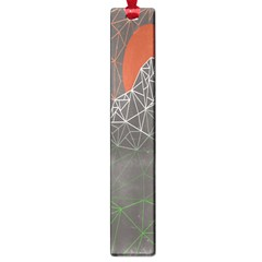 Sun Line Lighs Nets Green Orange Geometric Mountains Large Book Marks by Alisyart