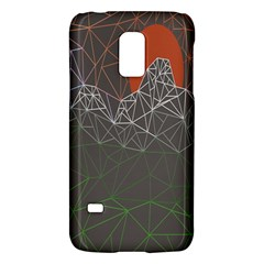 Sun Line Lighs Nets Green Orange Geometric Mountains Galaxy S5 Mini by Alisyart