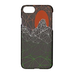 Sun Line Lighs Nets Green Orange Geometric Mountains Apple Iphone 7 Hardshell Case