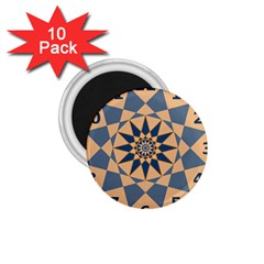 Stellated Regular Dodecagons Center Clock Face Number Star 1 75  Magnets (10 Pack)  by Alisyart