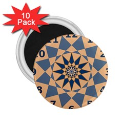 Stellated Regular Dodecagons Center Clock Face Number Star 2 25  Magnets (10 Pack)