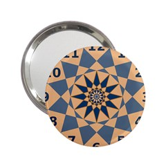 Stellated Regular Dodecagons Center Clock Face Number Star 2 25  Handbag Mirrors by Alisyart