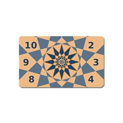 Stellated Regular Dodecagons Center Clock Face Number Star Magnet (name Card) by Alisyart
