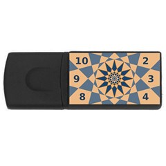 Stellated Regular Dodecagons Center Clock Face Number Star Usb Flash Drive Rectangular (4 Gb)