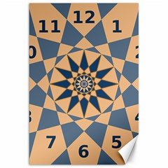 Stellated Regular Dodecagons Center Clock Face Number Star Canvas 20  X 30   by Alisyart