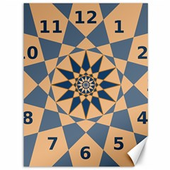 Stellated Regular Dodecagons Center Clock Face Number Star Canvas 36  X 48   by Alisyart