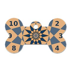 Stellated Regular Dodecagons Center Clock Face Number Star Dog Tag Bone (one Side) by Alisyart