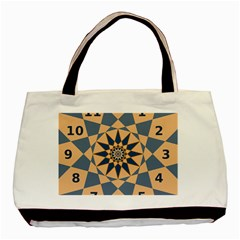 Stellated Regular Dodecagons Center Clock Face Number Star Basic Tote Bag (two Sides) by Alisyart