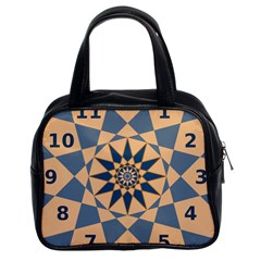 Stellated Regular Dodecagons Center Clock Face Number Star Classic Handbags (2 Sides) by Alisyart