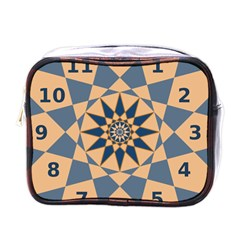 Stellated Regular Dodecagons Center Clock Face Number Star Mini Toiletries Bags by Alisyart