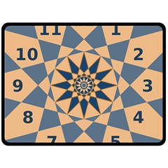 Stellated Regular Dodecagons Center Clock Face Number Star Fleece Blanket (large)