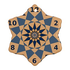 Stellated Regular Dodecagons Center Clock Face Number Star Ornament (snowflake)