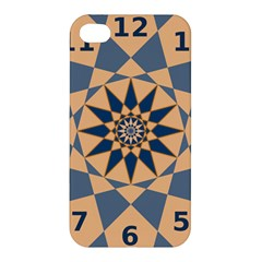 Stellated Regular Dodecagons Center Clock Face Number Star Apple Iphone 4/4s Hardshell Case by Alisyart