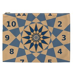 Stellated Regular Dodecagons Center Clock Face Number Star Cosmetic Bag (xxl)  by Alisyart