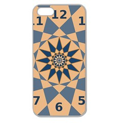 Stellated Regular Dodecagons Center Clock Face Number Star Apple Seamless Iphone 5 Case (clear)