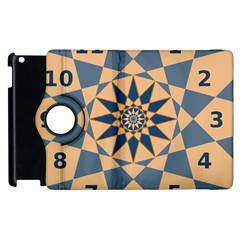 Stellated Regular Dodecagons Center Clock Face Number Star Apple Ipad 2 Flip 360 Case by Alisyart