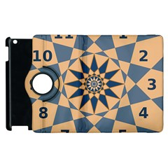 Stellated Regular Dodecagons Center Clock Face Number Star Apple Ipad 3/4 Flip 360 Case by Alisyart
