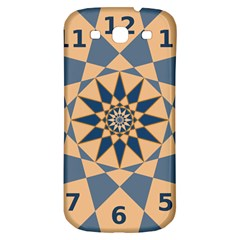 Stellated Regular Dodecagons Center Clock Face Number Star Samsung Galaxy S3 S Iii Classic Hardshell Back Case by Alisyart