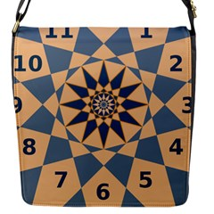 Stellated Regular Dodecagons Center Clock Face Number Star Flap Messenger Bag (s)