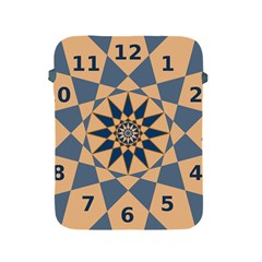 Stellated Regular Dodecagons Center Clock Face Number Star Apple Ipad 2/3/4 Protective Soft Cases by Alisyart