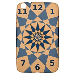 Stellated Regular Dodecagons Center Clock Face Number Star Samsung Galaxy Tab 3 (8 ) T3100 Hardshell Case  by Alisyart