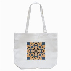 Stellated Regular Dodecagons Center Clock Face Number Star Tote Bag (white) by Alisyart