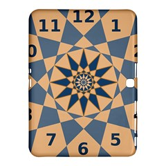 Stellated Regular Dodecagons Center Clock Face Number Star Samsung Galaxy Tab 4 (10 1 ) Hardshell Case  by Alisyart