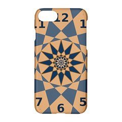 Stellated Regular Dodecagons Center Clock Face Number Star Apple Iphone 7 Hardshell Case