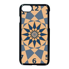 Stellated Regular Dodecagons Center Clock Face Number Star Apple Iphone 7 Seamless Case (black) by Alisyart