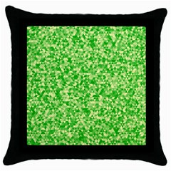 Specktre Triangle Green Throw Pillow Case (black) by Alisyart