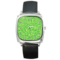 Specktre Triangle Green Square Metal Watch by Alisyart