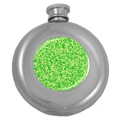 Specktre Triangle Green Round Hip Flask (5 Oz) by Alisyart