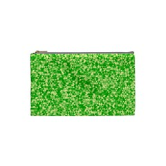 Specktre Triangle Green Cosmetic Bag (small)  by Alisyart
